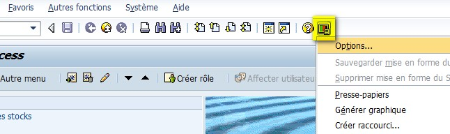 Paramètres personnel SAP