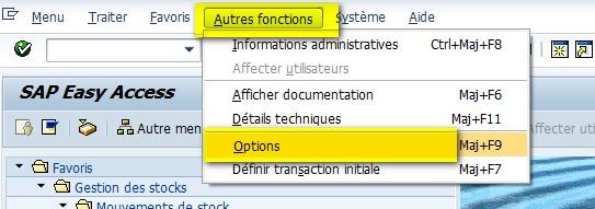 Afficher code transaction SAP