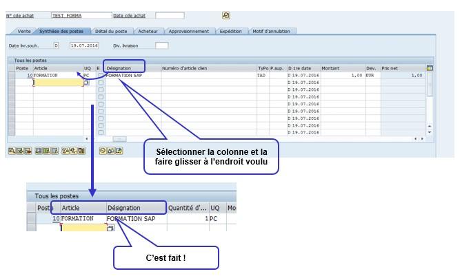 Variante tableau SAP