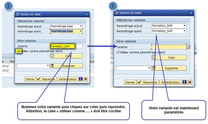 Tutoriel SAP Création variante