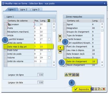 SAP ajout colonne variante