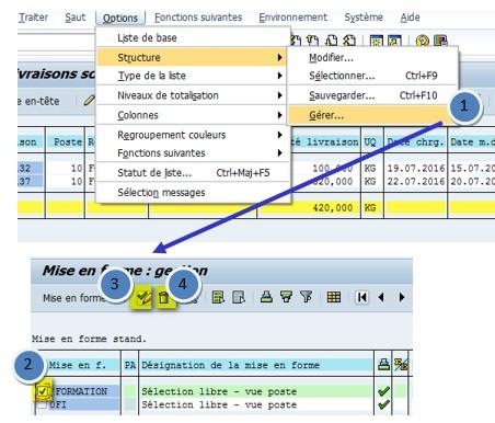 SAP variante par défaut
