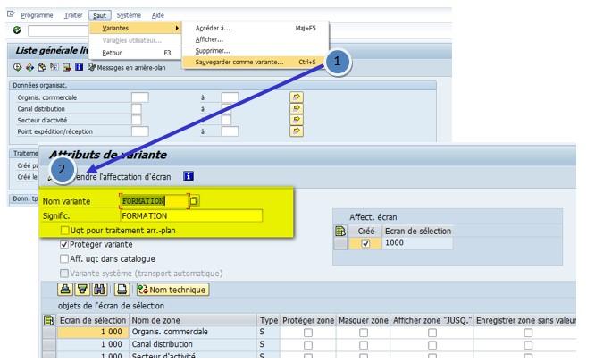 SAP VL060 Dates dynamiques