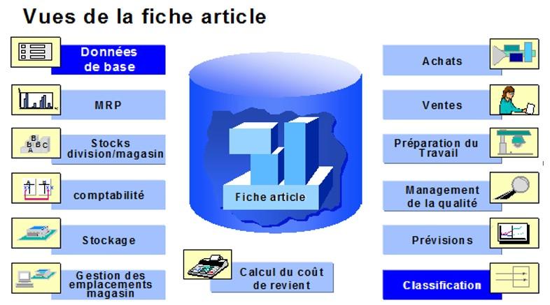 SAP Fiche article