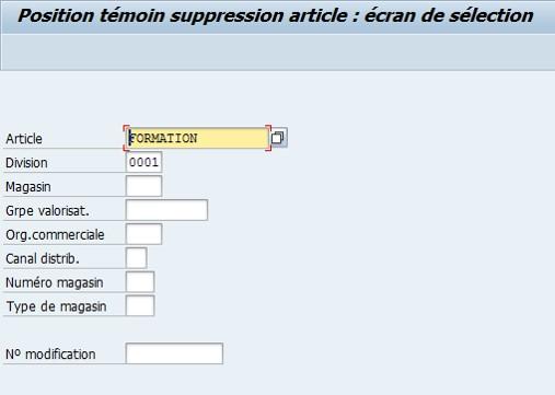 SAP comment mettre un témoin de suppression ?