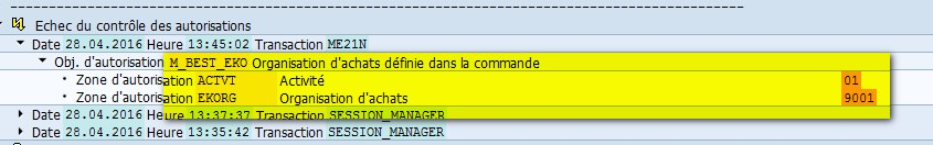 SAP Transaction SU53