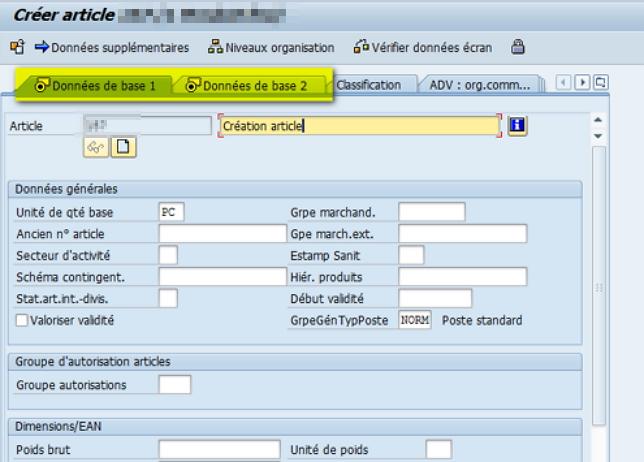 Comment créer une fiche article dans SAP ?
