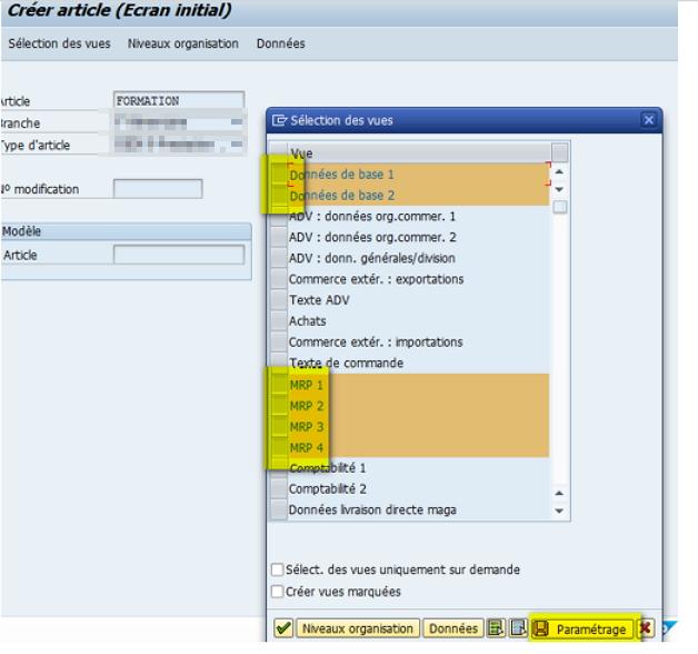 SAP Astuce MM01 Vue données de base