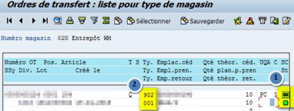 LT22 Confirmation en masse des OT dans WM SAP