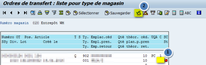 SAP WM Transaction LT22