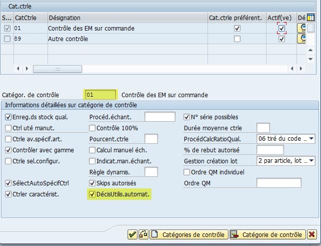 SAP Fiche article Décision Utilisation