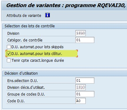 SAP Formation QA17