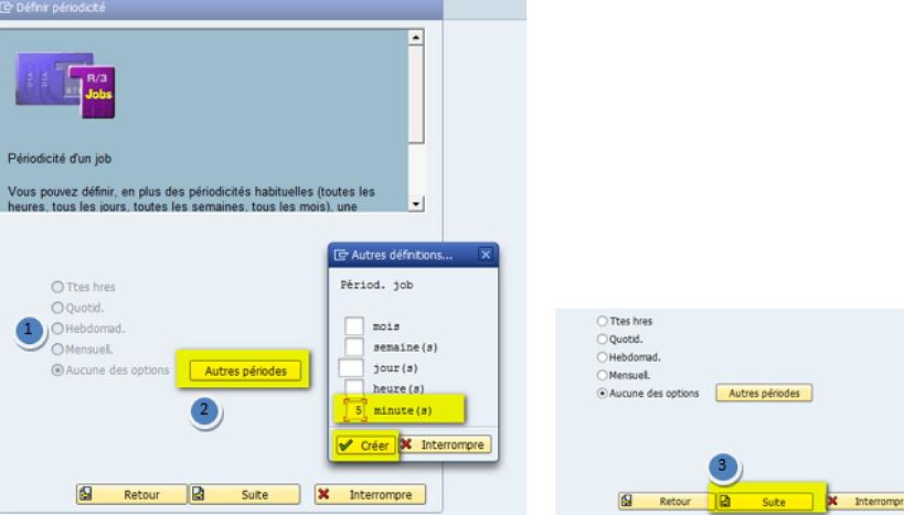 SAP SM36 fréquence