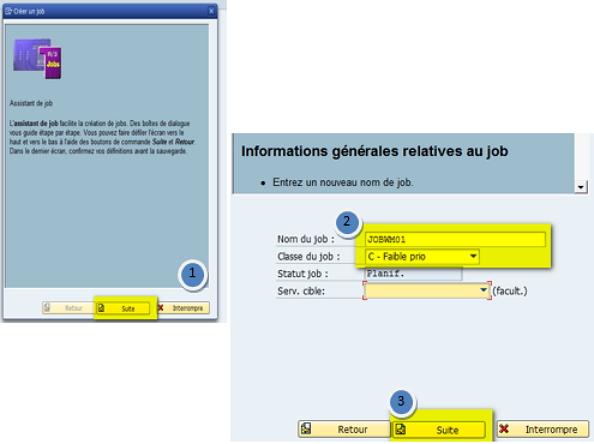 sap comment créer un job : mode opératoire