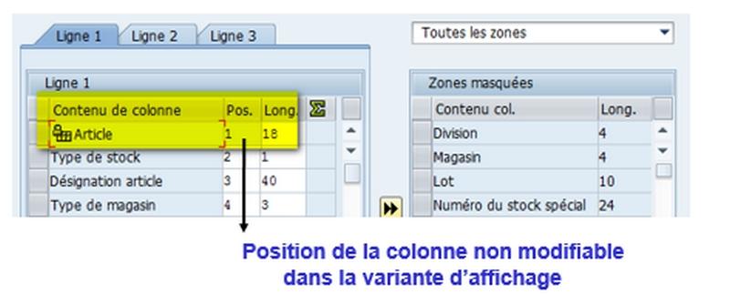 Personnalisation colonne affichage transactions WM