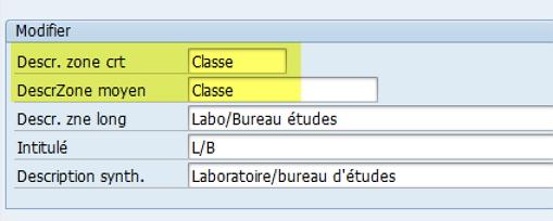 SAP tutotiel pour modifier la description d'une zone SAP via l'élement de donnée !