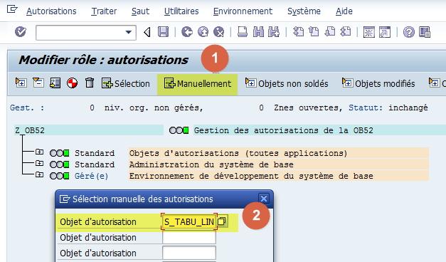 SAP - Gestion des autorisations