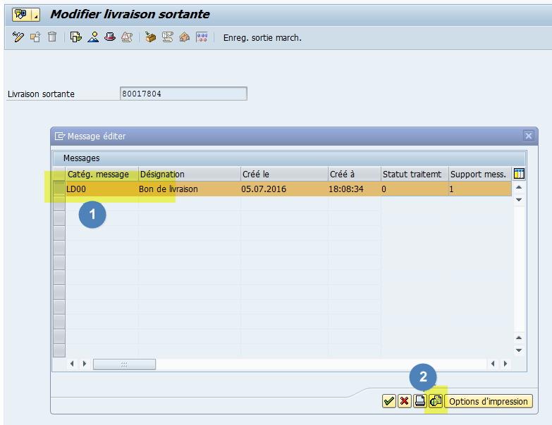 Edition Message LD00 BL SAP