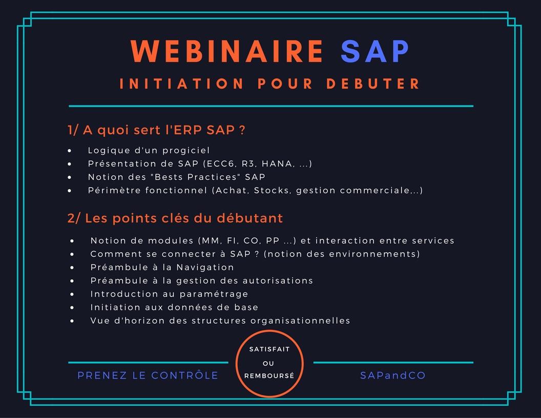 Webinaire Formation SAP Débutant
