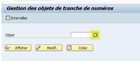 Modifier tranche numéro SAP