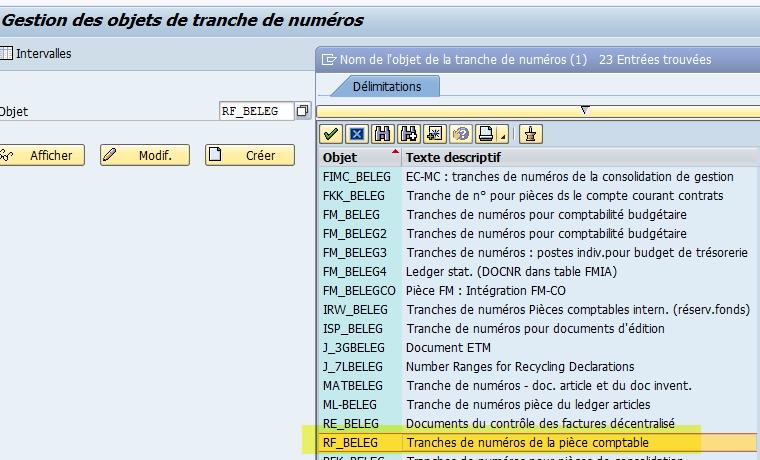 Tranche SAP RF_BELEG