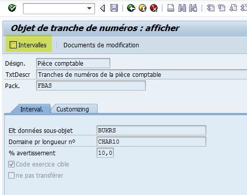 Modification tranche facture SAP