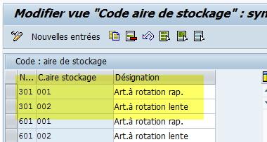 créer code aire de stockage WM