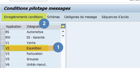 Transaction Nace - Edition des messages