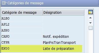 Edition liste de préparation SAP
