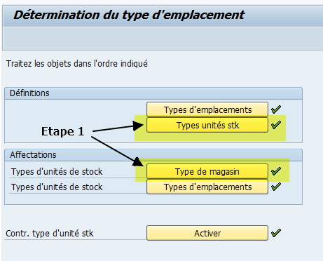 WM Type unité de stock paramétrage