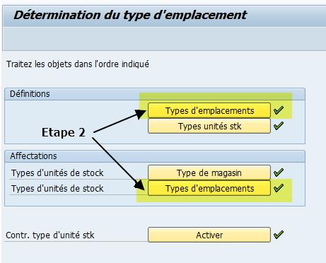 Paramétrage type emplacement WM