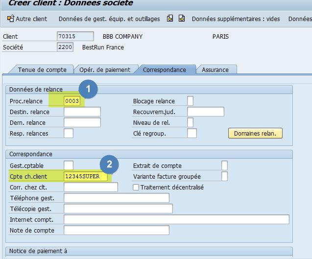 Utiliser transaction XD01