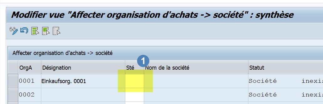 SPRO contrat achat SAP
