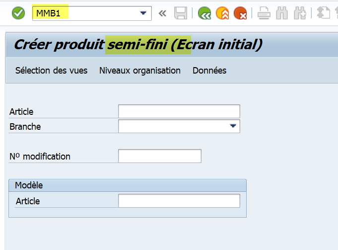 SAP personnaliser la création de la fiche article