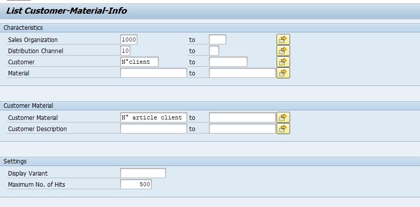 SAP : comment recherche facilement son code article à partir du code article client ?