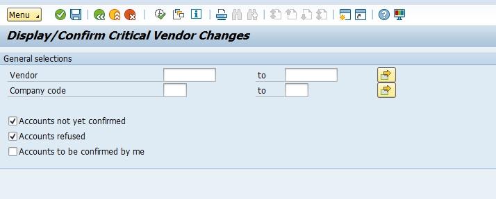 Confirmation RIB fournisseur SAP