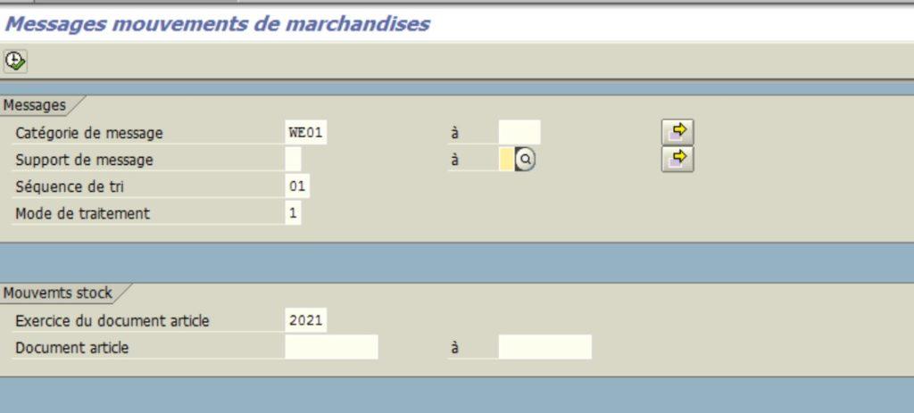 Transaction MB90 - Impression bon de réception dans SAP