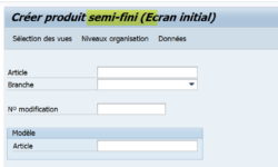 Fiche article SAP personnalisation